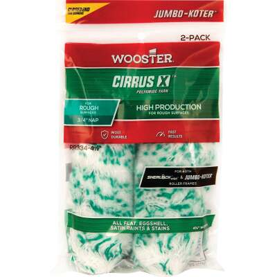 Wooster Jumbo-Koter Cirrus X 4-1/2 In. x 3/4 In. Yarn Paint Roller Cover (2-Pack)