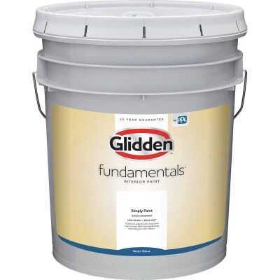 Glidden Fundamentals Interior Paint Semi-Gloss White & Pastel Base 5 Gallon