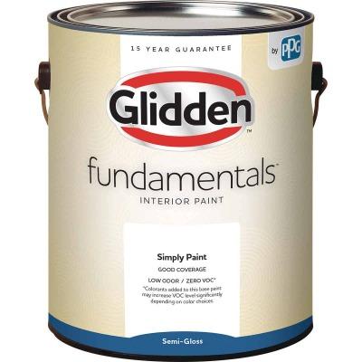 Glidden Fundamentals Interior Paint Semi-Gloss White & Pastel Base 1 Gallon