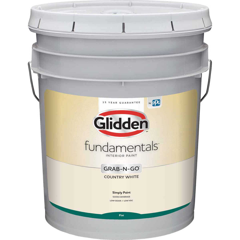 Glidden Fundamentals Grab-N-Go Country White Flat 5 Gallon Image 1