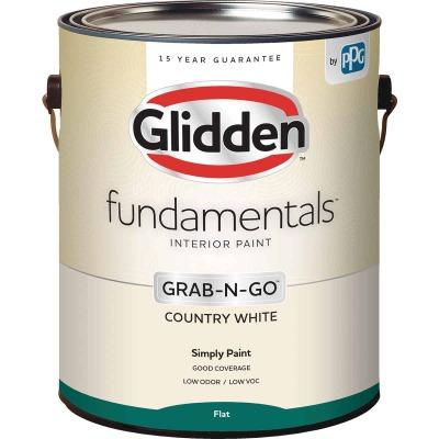 Glidden Fundamentals Grab-N-Go Country White Flat 1 Gallon