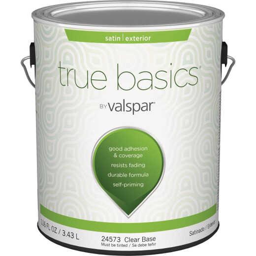 True Basics by Valspar Satin Exterior House Paint, 1 Gal., Clear Base