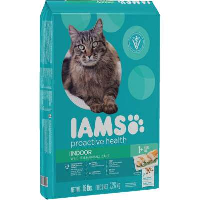 Iams Proactive Health Weight & Hairball Care 16 Lb. Chicken & Turkey Flavor Adult Dry Cat Food