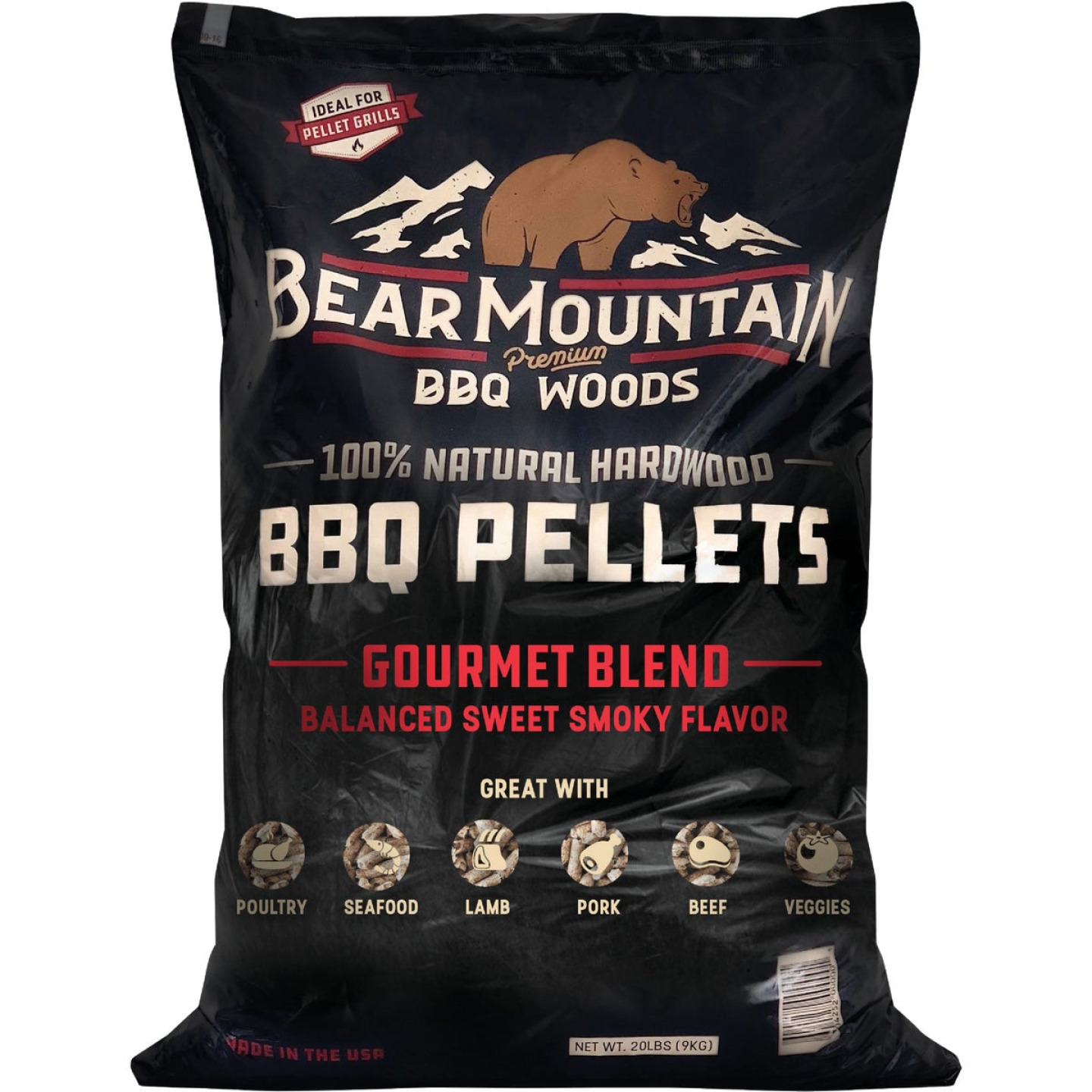 Bear Mountain BBQ Premium Woods 20 Lb. Gourmet Blend Wood Pellet Image 1