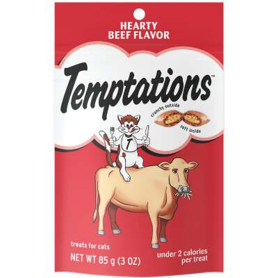 Temptations Hearty Beef 3 Oz. Cat Treat