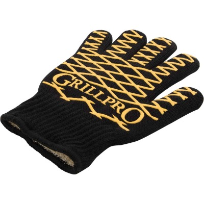 GrillPro One Size Fits Most Black & Yellow Heat Resistant Barbeque Mitt