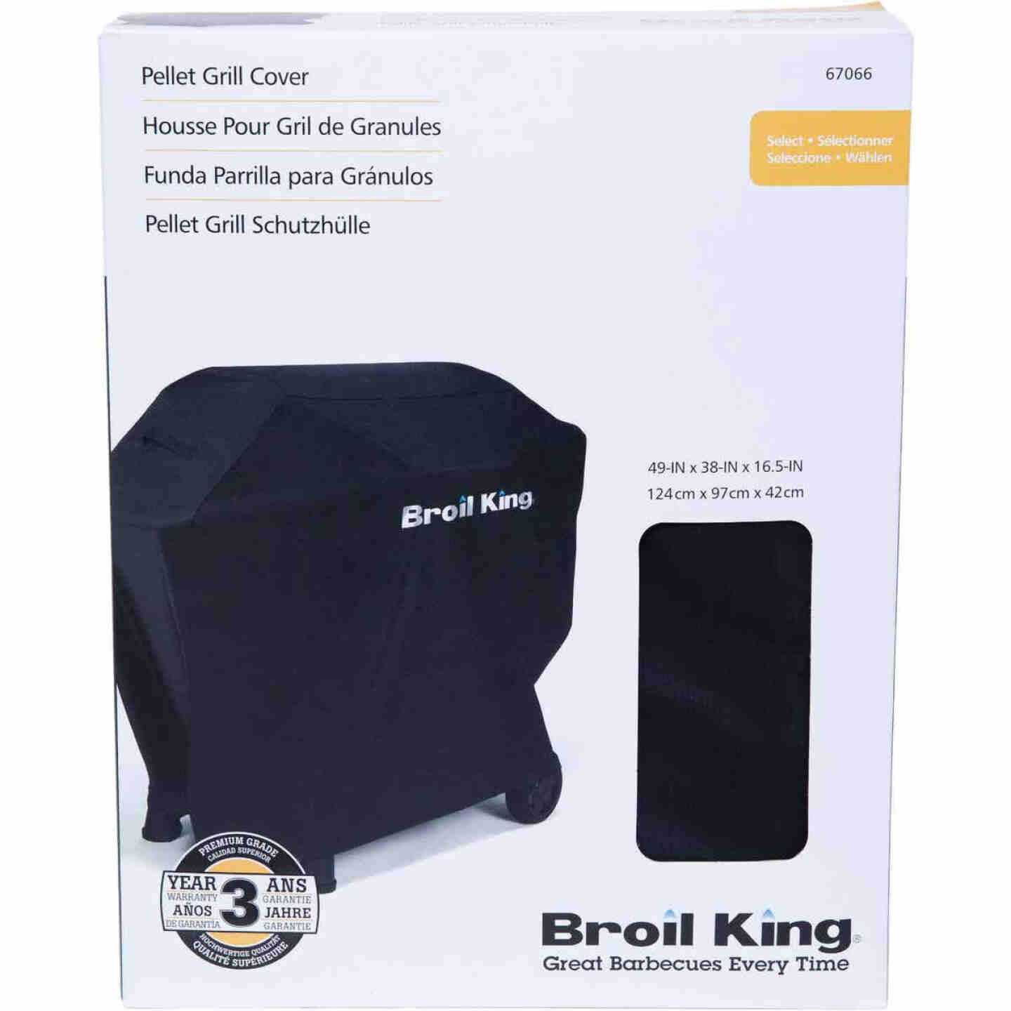 Broil King Crown Pellet 500 49 In. Black Grill Cover Image 2