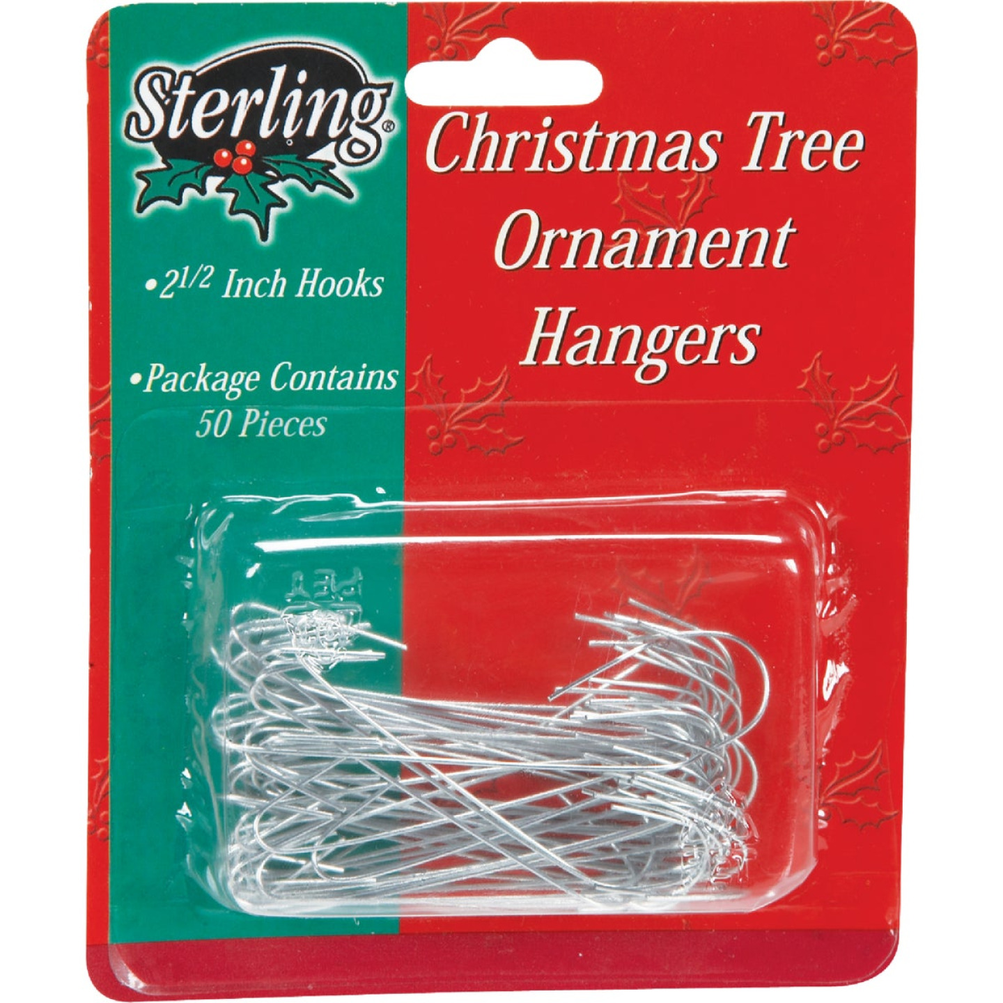 Sterling 2-1/2 In. Silver Christmas Ornament Hooks Image 1